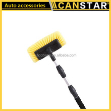 Factory hot selling plastic soft bristle car cleaning wash brush