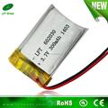polímero de litio prismático baterías recargables 602030 3. 7v 300mah