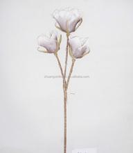 3 heards articial fake 90cm EVA foam rose flower for wedding decoration