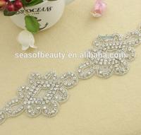 Iron On Fabric Boutique Banding Rhinestone Trim For Bridal Belt