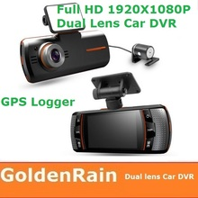 F90G F90 GPS logger G-sensor Dual Camera driver recorder hd car dvr camera