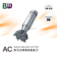 Brazed Carbide CNC Dovetail Milling Cutter For Grinding Machine