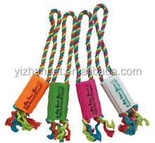 Vinyl squeaky News paper With Rope Dog Toy