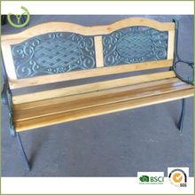 Double arch outdoor garden bench/wooden park bench