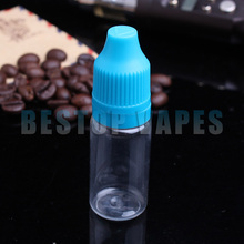 China 10ml E Cigarette Liquid Dropper Bottles with Tamper Childproof Cap, 10ml Clear Plastic Bottles for Sale