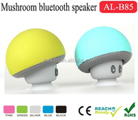 Alibaba Mushroom Shape sucking bluetooth speaker music player mini speakers with Silicon Suction cup stand function