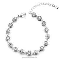 "22 K gold jewelry,dongguan fashion jewelry crystal bracelet ""17+5""cm"