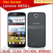 Lenovo A850+ MTK6592 Octa Core 1.4GHz 5.5 Inch IPS Dual sim Dual Camera 3g wifi gps mobile phone