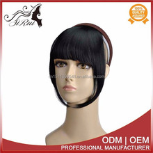 Wholesale price sex women natural looking bangs, natural synthetic hair fringes yaki clip in bangs