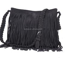 2015 Korean version of the European star new spring skin fringed shoulder bags diagonal trend woman handbag