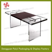 High transparent clear luxury acrylic office desk