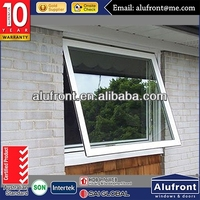 aluminum top hung window with high quality hardware