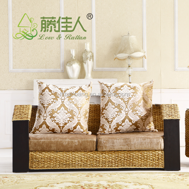 Haute qualit chine fabricant int rieure tiss rotin herbiers canap meubles - Canape bonne qualite ...