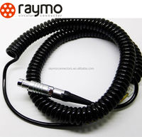 spiral cable electrical male female magnetic audio vedio power cable connector