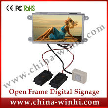7 inch Motion Activated Video Player Open Frame LCD Display to advertise in retail stores LCD Advertising for sales promotion