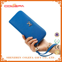 2015 new model purses and ladies handbags Leather lady wallet