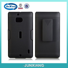 rubber surface belt clip kickstand combo case for Nokia 930