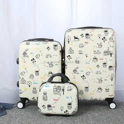 trolly bag,simple and cheap set 4, trolley suitcase, travel case,luggage