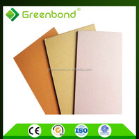 Greenbond aluminum composite with different types of brush finished panel