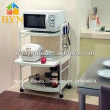 Baoyouni kitchenmicrowave plato carrito utensilio titular de soporte dq-1217