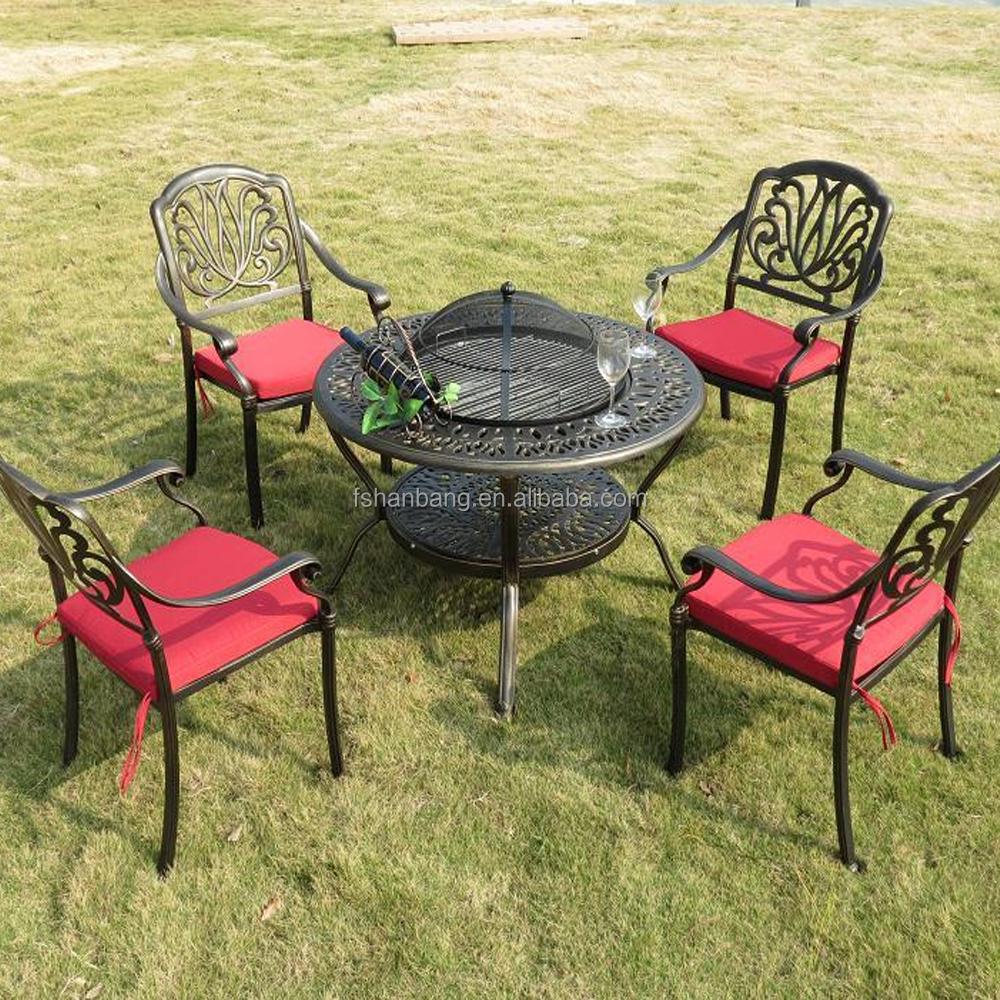 wholesale round wood burning garden cast aluminum wrought. Black Bedroom Furniture Sets. Home Design Ideas
