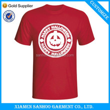 Men's Short-Sleeved 100% Cotton Free Sample Tee Shirt With Custom Printed