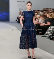 Fashion show style high quality lace evening dress designs for wholesale