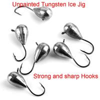 Wholesale unpainted tungsten ice fishing jigs