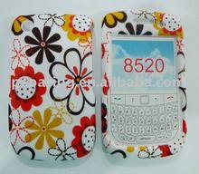 flower hard front and back case cover for Blackberry curve 8520/8530
