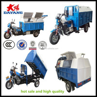 Closed type tricycle 200cc/250cc/300cc 250cc rubbish compactor truck for sale with DUMPER with CCC certification