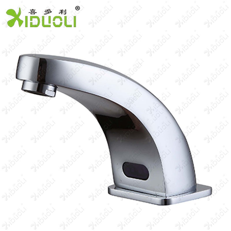Contemporary Brass Brushed Nickel Touchless Sensor Water Tap Electronic Faucet Buy Brass