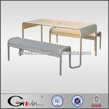 Durable galvanized steel wholesale picnic table,table & bench,metal picnic table legs guangzhou manufacturer