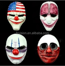 Collection High Quality Cosplay Game Resin Payday 2 mask Dallas