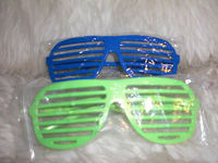 Plastic Glow light up Shutter Sunglasses for party
