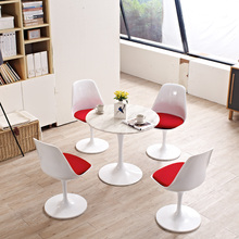 Firberglass cushion round dining table and chair recreational leisure relax zone area outdoor office furniture