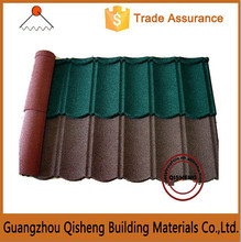 Chinese classical stone coated flat roofing glazing