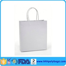 Custom White Kraft Paper Shopping Bag Suppliers with String Handle