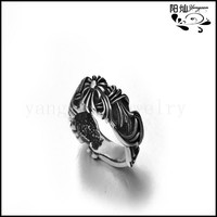 New arrival punk fashion spike jewelry 316l stainless steel men's fashion full finger ring