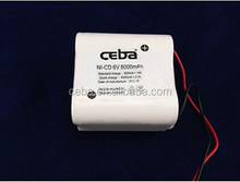 ni cd aa 6v 500mah battery