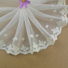 High Quality Custom Mesh Embroidery Lace Trimming For Curtain