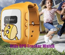 lovely smart kids GPS tracker watch phone with real time tracking GPS+LBS position