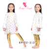 2015 baby girls gold polk dot dress and gold legging boutique sets,girls wholesale boutique clothing