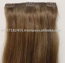 top quality clip in hair extensions 100% indian remy