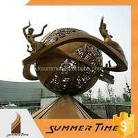 3Meters stainless steel ball sculpture for school decoration