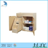 Wooden Montessori Materials,Changing Table with Steps