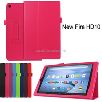 Quality Lychee Texure PU Leather Case cover with flip Stand For AMAZON KINDLE NEW FIRE 10 2015 BUSINESS PROTECTIVE CASE