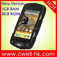 Jeep Z6+ IP 68 Waterproof Rugged Smartphone 4.0 Inch IPS Screen Dual SIM Card 8.0MP Camera WIFI GPS