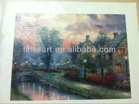 HD Canvas Prints with Texture, Garden Scene by Thomas Kinkade, 30x40cm