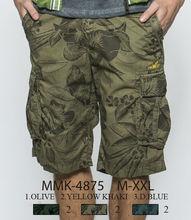 Glo-story de ropa de playa para hombre pantalones cortos de carga de las bermudas