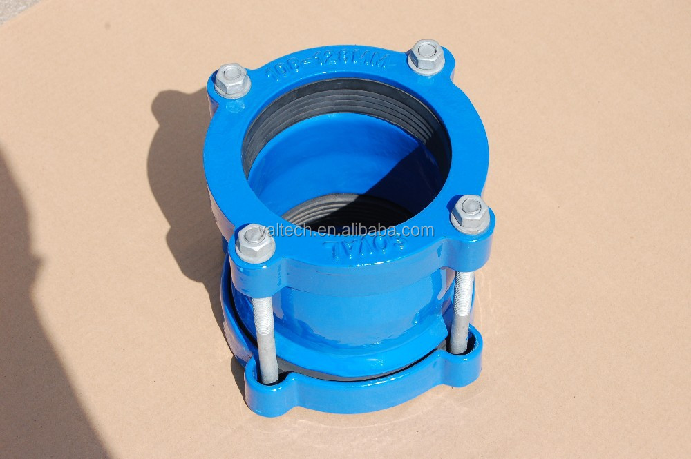 Ductile cast iron pipe coupling flexible joint